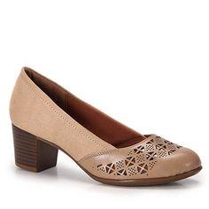Sapato Salto Feminino Azaleia - Bege