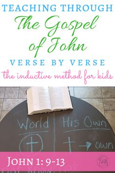 Inductive Study for Kids: John 1:9-13 - Simple. Home. Blessings