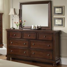 Reflections 7 Drawer Dresser and Mirror Combination by Vaughan Bassett