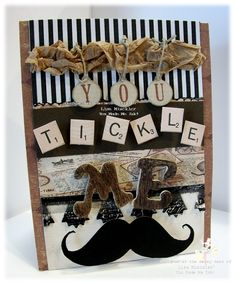 Humorous Mustache Card Mustache Cards, Masculine Cards, Homemade Cards, Card Making, Therapy, Scrapbook, Gift Ideas, Tags, My Love