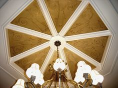 Speir Faux Finishes - Dining ceiling treatment.