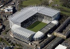St James' Park is a football stadium in Newcastle upon Tyne, England. It is the home of Premier League club Newcastle United F. with a seating capacity of it is the seventh largest football stadium in England. Soccer Stadium, Football Stadiums, Football Tops, St. James Park, Newcastle Nightlife, Sport Direct, Premier League, Stadium Wallpaper, Newcastle United Football