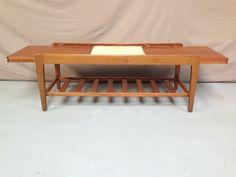 Table basse vintage en teck ! côtés coulissants. #vintage #tabledesalon #interior