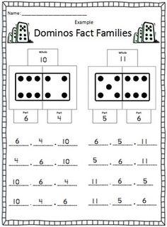 Dominos Fact Family Activity