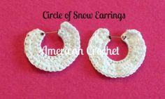 Circle of Snow Earri