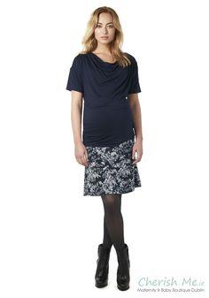 Esprit Maternity skirt - Cinder blue