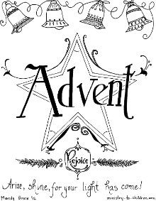 Advent-Cover, coloring pages