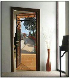 1000 images about trompe l oeil adesivi murali wall for Specchi adesivi per porte