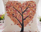 Coussins/couverture de coton lin décoratif, coussin imprimé couverture cas, taie d'oreiller de Sofa, divan coussin couverture, taie d'oreiller voiture, automne automne