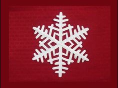 Paper snowflake 1 - Detailed tutorial - Intermediate level - Can YOU do it? Paper Snowflakes Easy, Paper Snowflake Designs, Snowflake Cutouts, How To Make Snowflakes, Simple Snowflake, Snowflake Craft, Christmas Origami, Christmas Crafts, Christmas Tree