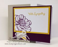 Bloom with Hope Sympathy Card with How To Video