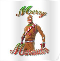 Fortnite Gingerbread Man Skin Poster Products In 2019