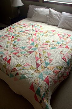 Quilt Pattern - South Pacific - big and bold new version of the Ocean Waves pattern - printed paper pattern. $8.99, via Etsy.