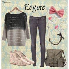 Eeyore, created by flolovesnyc on Polyvore