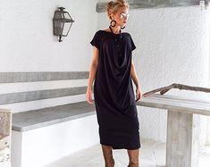 Scuba Neoprene Maxi Dress Kaftan with Pockets   Blush Pink Scuba Kaftan   Plus  Size Dress   Oversize Loose Dress    35144 c9dad867a4