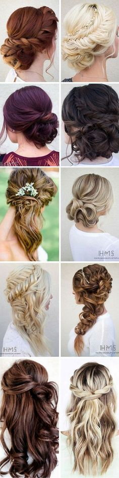 Hottest Bridesmaids Hairstyles For Short or Long Hair / http://www.himisspuff.com/bridal-wedding-hairstyles-for-long-hair/33/