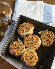 Roasted Garlic - use it in potatoes, on sandwiches, or add to dressings and dip for savory flavor