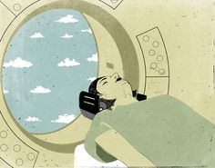 How Not to Get Claustrophobic During an MRI, Illustration by SHOUT ::: http://www.dutchuncle.co.uk/shout-images
