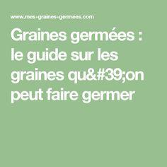 Graines germées : le guide sur les graines qu'on peut faire germer