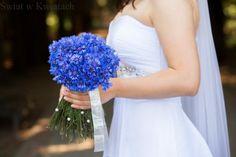 Znalezione obrazy dla zapytania bukiet ślubny niebieskie hortensje