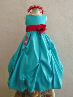 Size 6 red dress turquoise