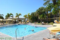 Rum Runners   #RumRunners #beach #stpete #florida #fun #relax #sun #sunbathe #palmtrees #green #pool #beachbar #bar #shade #cabanas #cabana #yellow #blue #sky #vacation #family #reunion #fun #play #lounge #chill #tampa #clearwater