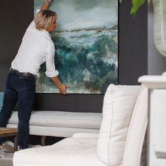 Abstract Landscape Painting, Landscape Art, Landscape Paintings, Abstract Art, Famous Sisters, Large Artwork, Dark Walls, Hanging Art, Beautiful Space