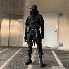Dark Fashion, Mens Fashion, Steampunk Fashion, Gothic Fashion, Avatar Costumes, Tactical Wear, Tactical Jacket, Cyberpunk Character, Cyberpunk Fashion