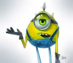 Minion as Mike Wazowski