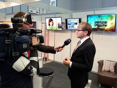 TVO-Geschäftsführer Norbert Kießling besuchte den Messestand ebenfalls am Samstag