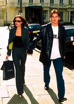 Hot Couples, Celebrity Couples, Lights Camera Action, Light Camera, Posh Beckham, Posh And Becks, Victoria And David, Spice Girls, Wedding Moments