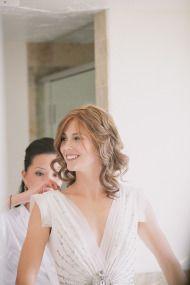 beautiful dress - beautiful wedding!  Montecito, California Wedding from Stone Crandall | Style Me Pretty