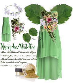 Last Minute Karnevalskostüm zum selber machen: Waldfee Kostüm. Noch mehr Ideen gibt es auf www.Spaaz.de
