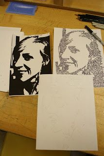 Micrography Portraits, A portrait made out of...words?!