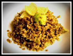 Tonhalas-avokádós hajdina Risotto, Grains, Food And Drink, Rice, Ethnic Recipes, Bulgur, Jim Rice, Brass