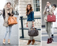 Smart Chic and Beautiful  Gray Jeans - Jeans color Gris. Also love the bags!