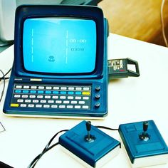 This is eye wateringly beautiful... a Philips N60 like the videopac.... @Regrann from @nightliquid_retro.inc -  Ever seem this little oddity  before? It's basically the rare version of an already  rare 80's  videogame  console. This is a Philips N60 which is essentially the french version of the Philips  Videopac video game console in the case of a Minitel A1. (french teletext terminal) This unit has a monochrome display two controllers and uses cartridges. Last but not least: It looks…