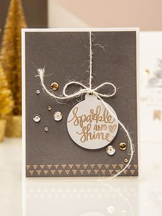"Yana Smakula | December 2014 Simon Says Stamp Card Kit - replace ""sparkle & shine"" with ""merry Christmas"""