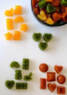 Homemade Fruit Snacks! They are much easier to make than you think and have less sugar than the store-bought versions.