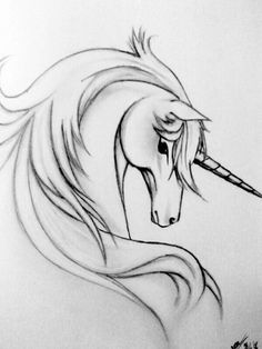 Realistic Unicorn Drawings | Unicorn Drawing In Pencil ...