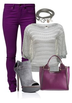 Purple by landyp on Polyvore featuring A|Wear, SELECTED, Camilla Skovgaard and Smythson