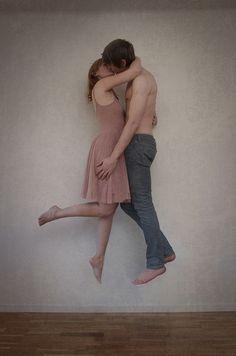 boy, flying, girl, levitate, lift, love