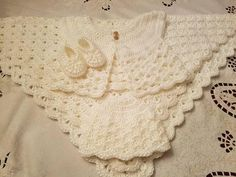 Check out this item in my Etsy shop https://www.etsy.com/listing/534914436/crochet-baby-christening-baptism-set