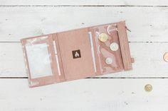 Brieftaschen - MINI / Pale Pink -  Portemonnaie aus Leder - ein Designerstück von AlicjaGetkaLab bei DaWanda