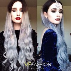 How to Go from Dark Hair to Pastel Color in One Set of Hair Extensions Rachelgeorgina 260g 24inches white blonde to dye into black hair to light red and blue color use 'rachelgeorgina01' for $10 off  at vpfashion & vpfashion blog   black ombre hair styles&extensions