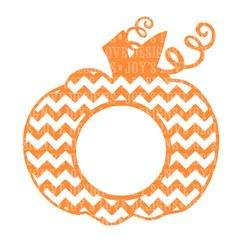 Chevron Monogram Pumpkin SVG and DXF Digital by JoysLoveDesigns