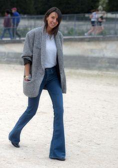 Boot cut jeans with jacket Джинсовый Стиль, Осенние Джинсы, Обрезанные  Джинсы, Шик, 30584227d7b