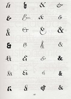 Page of Ampersands from René H. Munsch, 'L'écriture et son dessin', Paris Graffiti Lettering, Typography Letters, Chalkboard Typography, Typographic Design, Graphic Design Typography, Ampersand Tattoo, Heart Font, Alphabet Symbols, Type Illustration