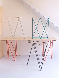 Tréteaux Zig-Zag   DESIGNENVUE // mobilier-objets-design