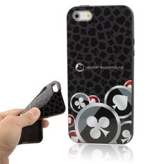 Casino Poker Chip Protective TPU Soft Silicone Cover Case for iPhone 5 5S